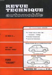 Revue Technique Automobile - N°272 - Couverture - Format classique