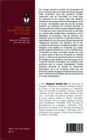 Théologie de la vie consacrée ; questions d'inculturation - 4ème de couverture - Format classique
