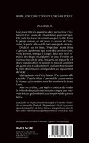 Incurables - 4ème de couverture - Format classique