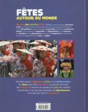 Fêtes autour du monde - 4ème de couverture - Format classique