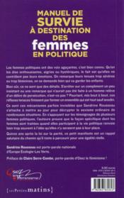 Manuel de survie à destination des femmes en politique - 4ème de couverture - Format classique