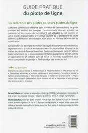 Guide pratique du pilote de ligne (9e édition) - 4ème de couverture - Format classique