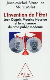 L'invention de l'Etat et naissance du droit public moderne français - Couverture - Format classique