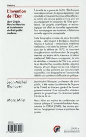 L'invention de l'Etat et naissance du droit public moderne français - 4ème de couverture - Format classique