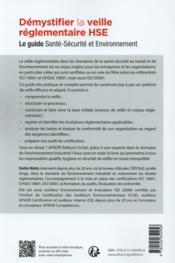 Démystifier la veille réglementaire HSE - 4ème de couverture - Format classique