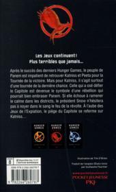 Hunger games T.2 ; l'embrasement - 4ème de couverture - Format classique