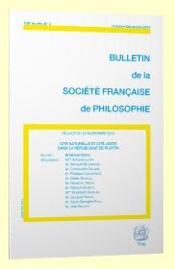 Bulletin De La Societe Francaise De Philosophie ; Cité Naturelle Et Cité Juste Dans La République De Platon - Couverture - Format classique