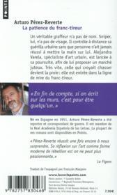 La patience du franc-tireur - 4ème de couverture - Format classique