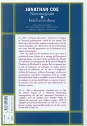 Notes marginales et bénéfices du doute - 4ème de couverture - Format classique