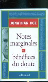 Notes marginales et bénéfices du doute - Couverture - Format classique