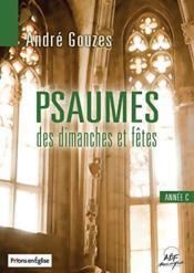 Psaumes des dimanches et fetes annee c livret partitions - Couverture - Format classique