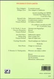 REVUE ADOLESCENCE N.94 ; psychose et états limites - 4ème de couverture - Format classique