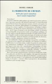 La silhouette de l'humain - 4ème de couverture - Format classique