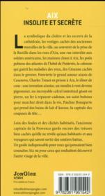 Aix insolite et secrète t.3 - 4ème de couverture - Format classique