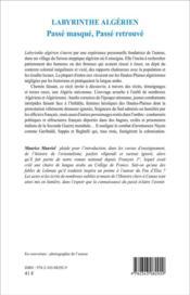 Labyrinthe algérien ; passé masqué, passé retrouvé - 4ème de couverture - Format classique