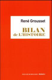 Bilan de l'histoire - Couverture - Format classique
