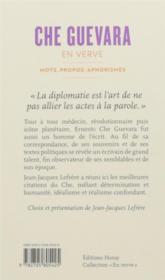 Che Guevara ; mots, propos, aphorismes (1928 - La Havane - 1967) - 4ème de couverture - Format classique