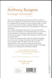 L'orange mécanique - 4ème de couverture - Format classique