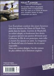 Les hauts de hurle-vent - 4ème de couverture - Format classique