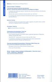 Les Cahiers De L'Arbitrage N.2017/2 - 4ème de couverture - Format classique