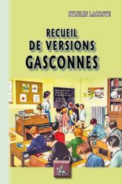 Recueil de versions gasconnes - Couverture - Format classique