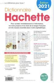 Dictionnaire Hachette (édition 2021) - 4ème de couverture - Format classique