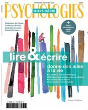 Psychologies hs n 59 - lire et ecrire - novembre/decembre 2020 - Couverture - Format classique