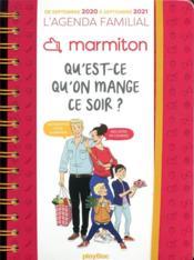 L'agenda familial Marmiton ; qu'est ce qu'on mange ce soir ? (édition 2021) - Couverture - Format classique