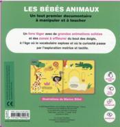 Les bébés animaux - 4ème de couverture - Format classique