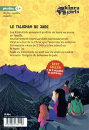 Kinra girls Hors-Série ; le talisman de jade - 4ème de couverture - Format classique