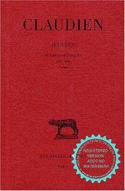 Oeuvres t.2 ; poèmes politiques 395-398 - Intérieur - Format classique