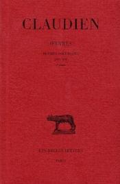 Oeuvres t.2 ; poèmes politiques 395-398 - Couverture - Format classique