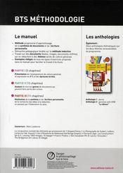 Français ; BTS ; méthodologie pour l'épreuve de culture générale et expression ; livre de l'élève (édition 2008) - 4ème de couverture - Format classique