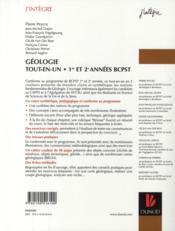 Géologie ; BCPST 1ère et 2ème année ; tout-en-un - 4ème de couverture - Format classique