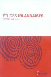 Revue Etudes Irlandaises N.31.1 - Intérieur - Format classique