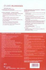 Revue Etudes Irlandaises N.31.1 - 4ème de couverture - Format classique