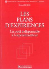 Les plans d'experiences. un outil indispensable a l'experimentateur - Intérieur - Format classique