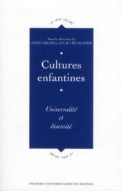 Cultures enfantines ; universalité et diversité - Couverture - Format classique