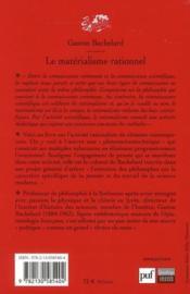 Le matérialisme rationnel (4e édition) - 4ème de couverture - Format classique