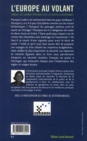 L'Europe au volant ; manuel des bonnes pratiques sur les routes européennes - 4ème de couverture - Format classique