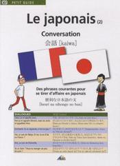 Le japonais t.2 ; conversation - Couverture - Format classique