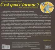 C'Est Quoi C'Tarmac ? Le Projet D'Aeroport Au Nord De Nantes - 4ème de couverture - Format classique