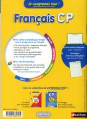 Je Comprends Tout! ; Français ; Cp ; 6-7 Ans - 4ème de couverture - Format classique