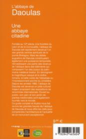 L'abbaye de Daoulas ; une abbaye citadine - 4ème de couverture - Format classique