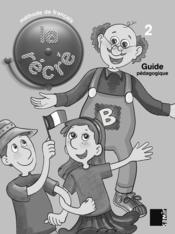 LA RECRE ; guide pédagogique ; niveau 2 - Couverture - Format classique