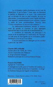 L'Europe, Incarnation De La Democratie Chretienne ; Un Dialogue - 4ème de couverture - Format classique