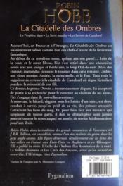 La citadelle des ombres ; intégrale t.3 - 4ème de couverture - Format classique