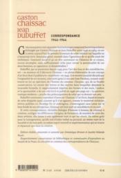 Les Cahiers De La Nrf ; Correspondance 1946-1964 - 4ème de couverture - Format classique