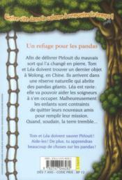 Bayard Poche ; La Cabane Magique T.43 ; Un Refuge Pour Les Pandas - 4ème de couverture - Format classique