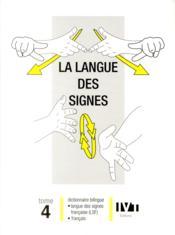 La langue des signes - tome 4 - Couverture - Format classique